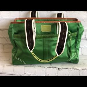 Green Coach Canvas Purse